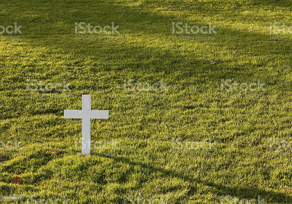 Shadow cast by cross for Robert Kennedy stock photo