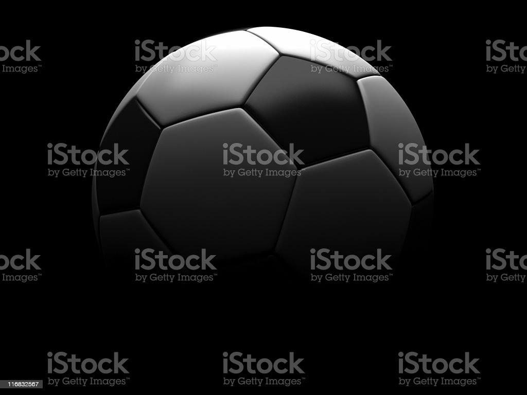 Shadow football black backgrounder royalty-free stock photo