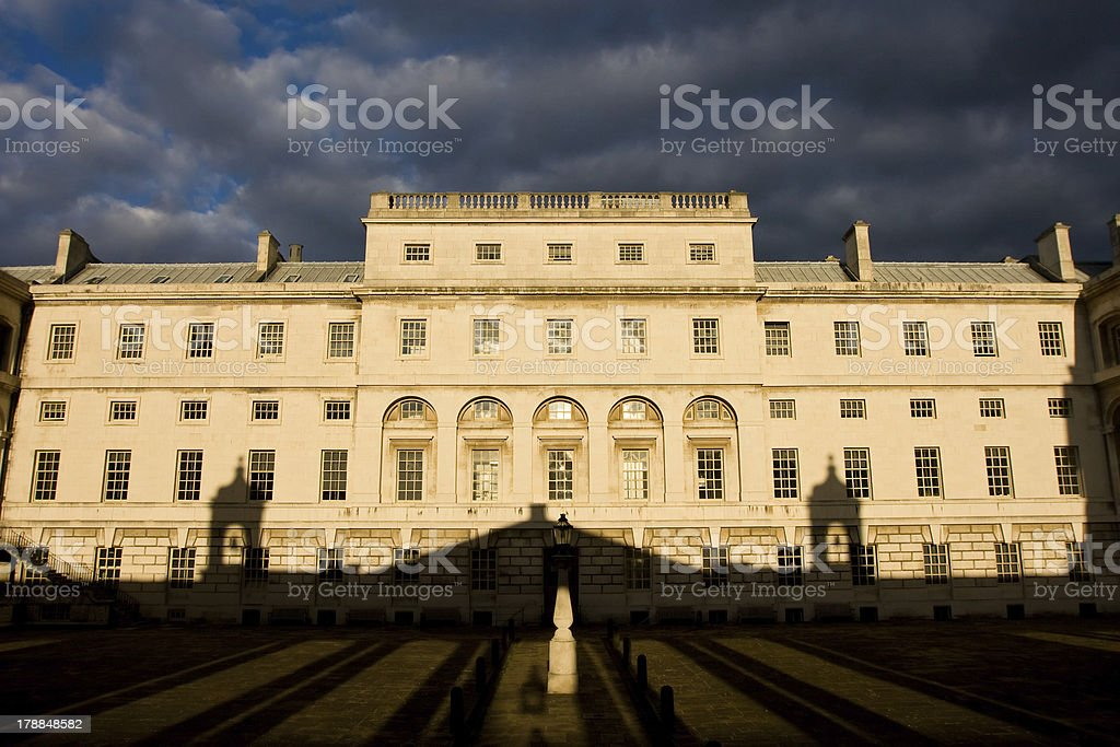 Shadow game, Greenwich University, London. royalty-free stock photo