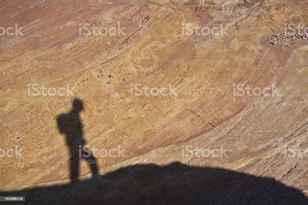Shadow Hiker stock photo