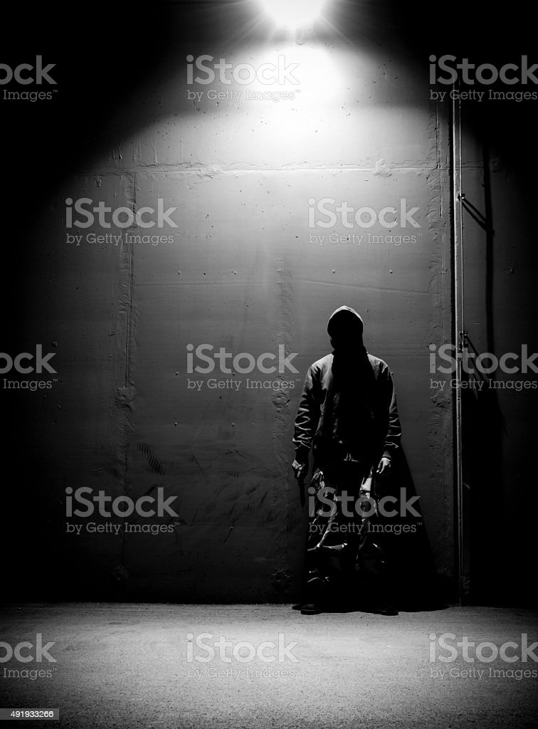 Shadow killer stock photo