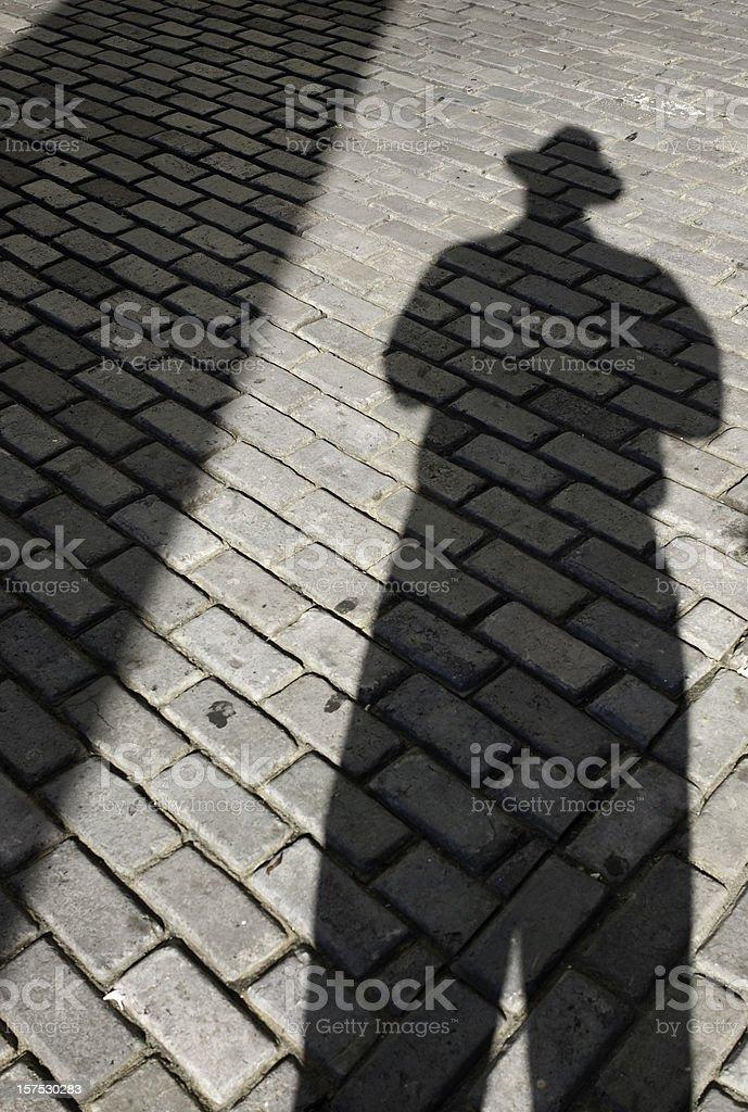 Shadow Man royalty-free stock photo