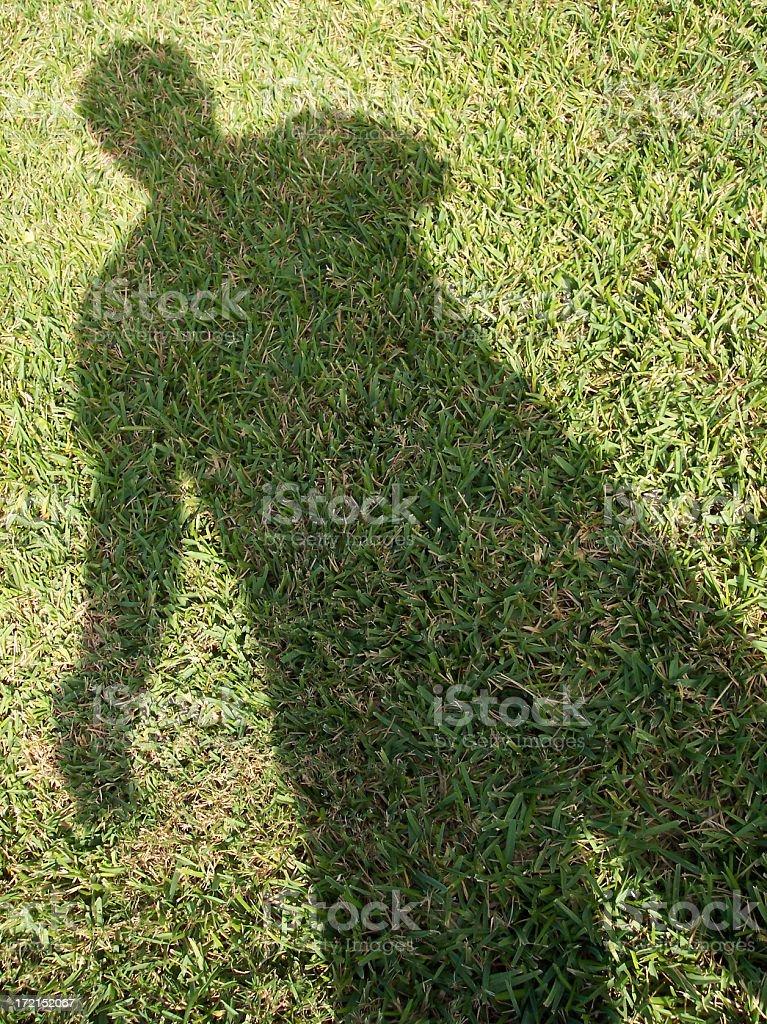 Shadow Man stock photo