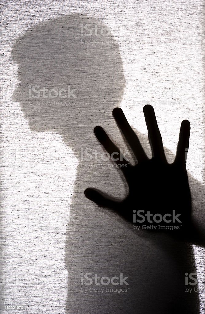 Shadow Man royalty-free stock photo