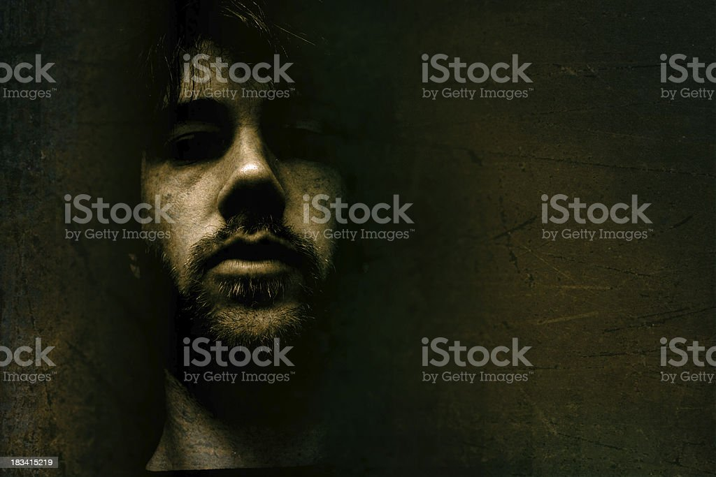 Shadow Man stock photo