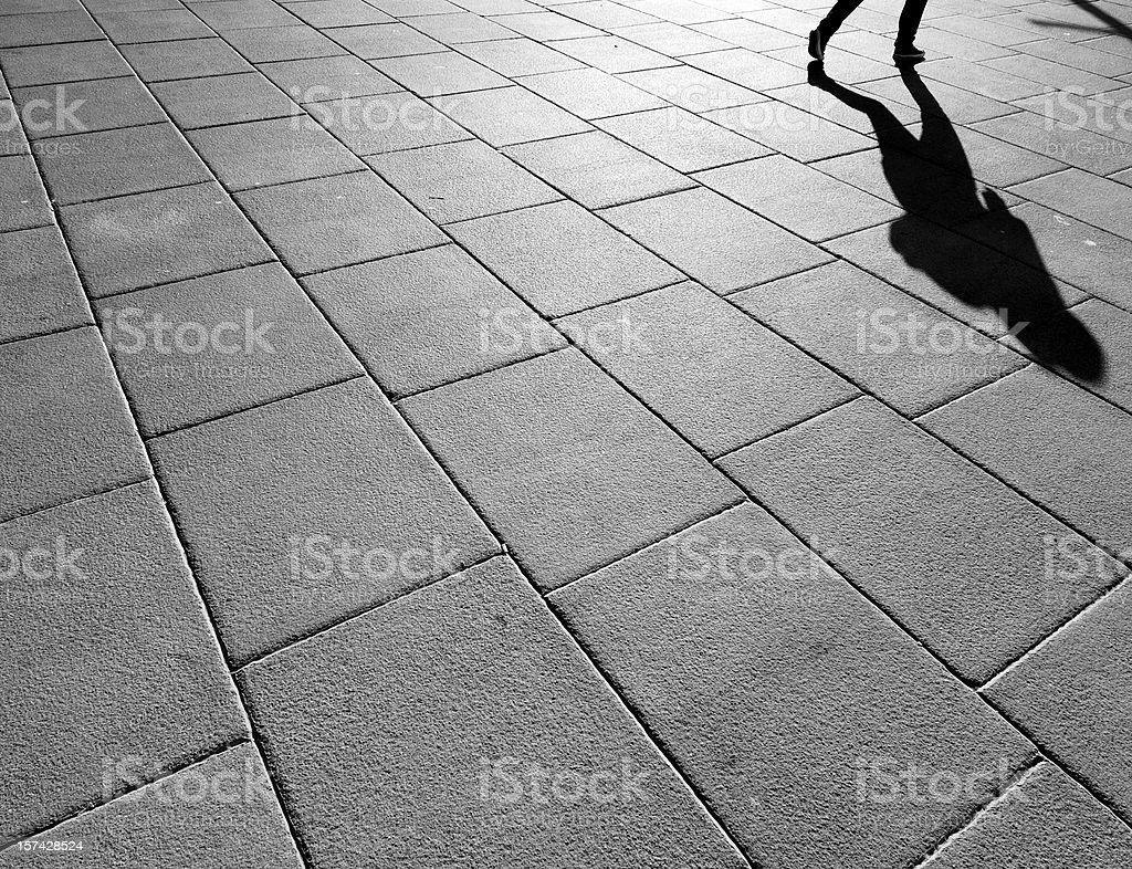 Shadow of a runner royalty-free stock photo