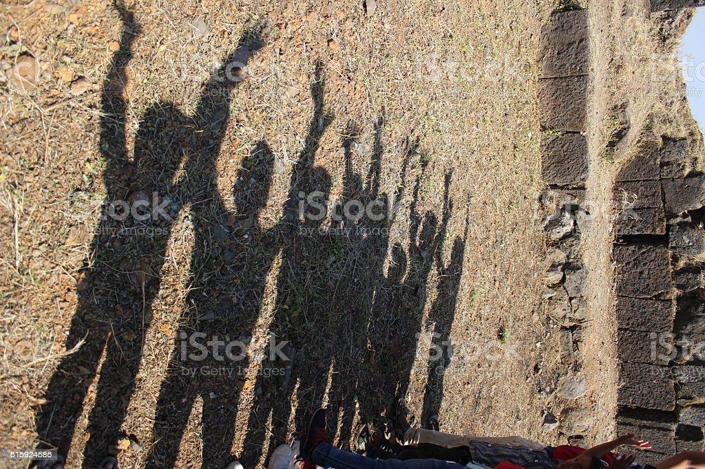 Shadow of enjoy stock photo