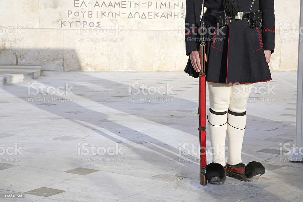 Shadow of Evzon guard stock photo