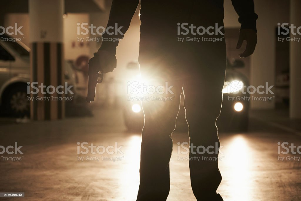 Shadow of fear stock photo