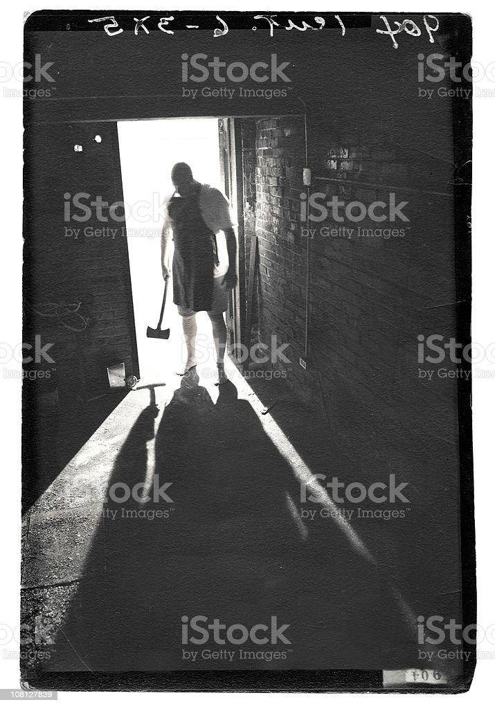 Shadow of Madman stock photo