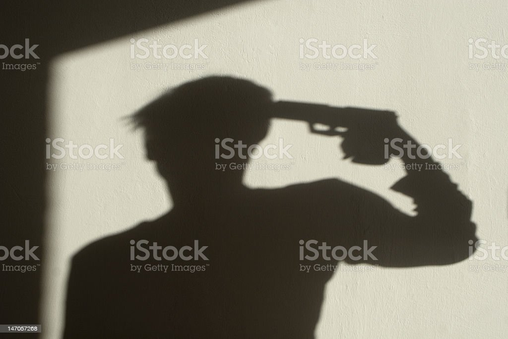shadow of stress - suicide royalty-free stock photo