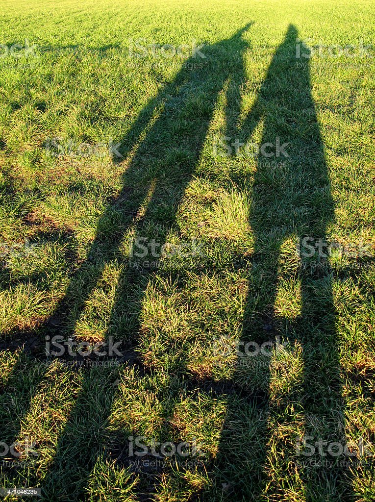 Shadow of two lovers royalty-free stock photo