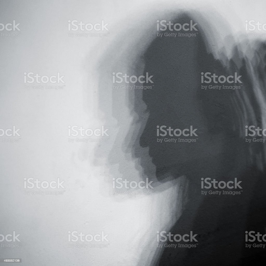 shadow of woman face stock photo