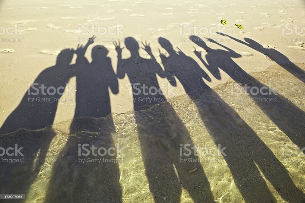 Shadow on beach royalty-free stock photo