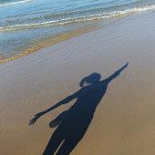 shadow on beach