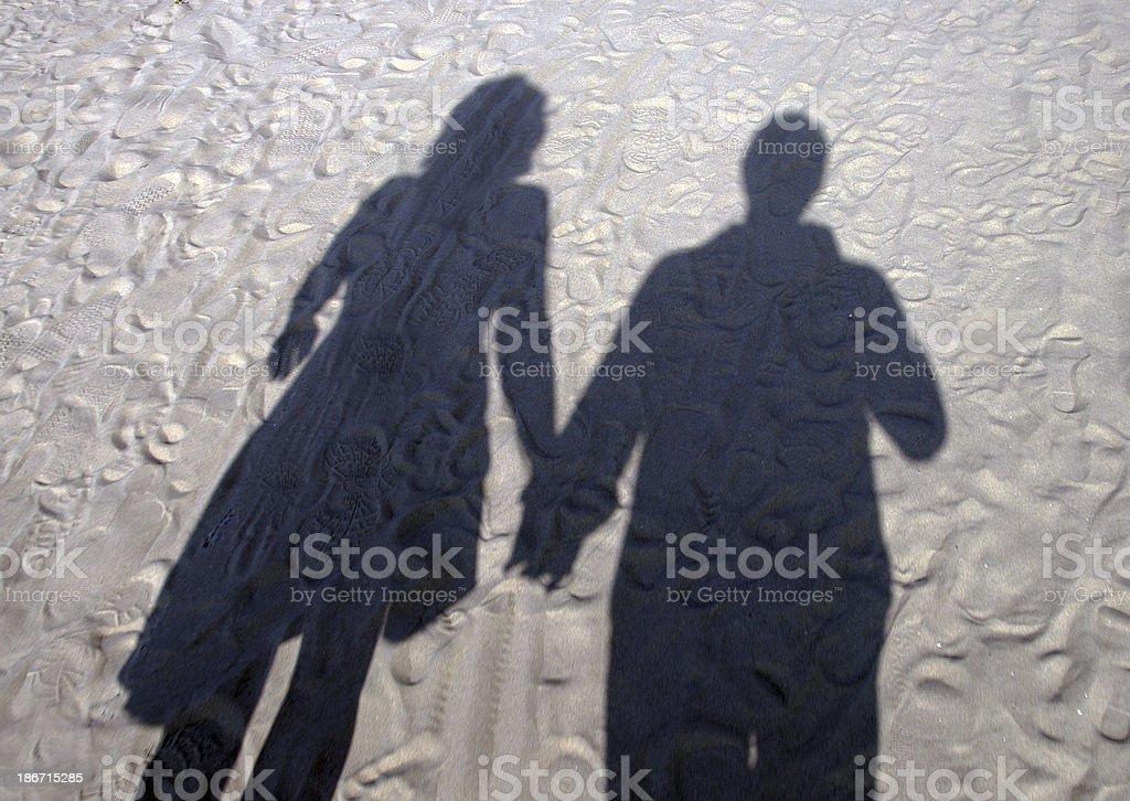 Shadow on the beach stock photo