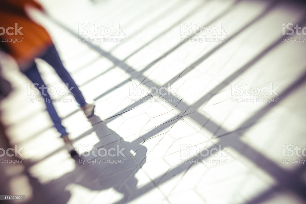 Shadow on the ground royalty-free stock photo