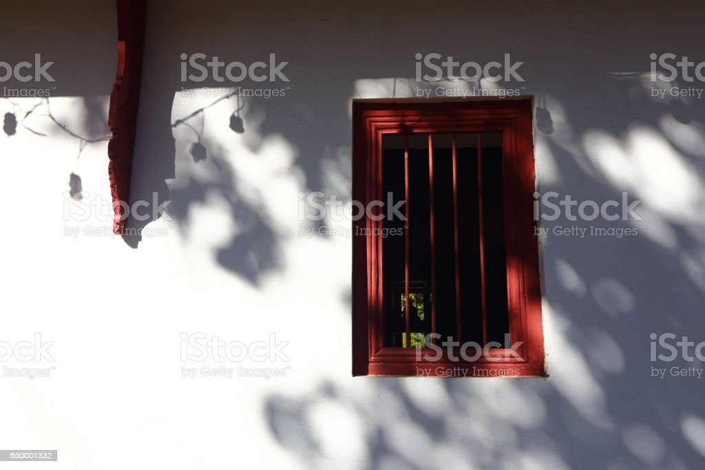 Shadow on the Wall, Asia tranditinal lifestyle stock photo