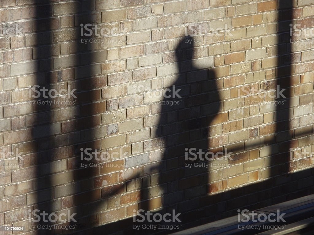 Shadow on the wall #3 royalty-free stock photo