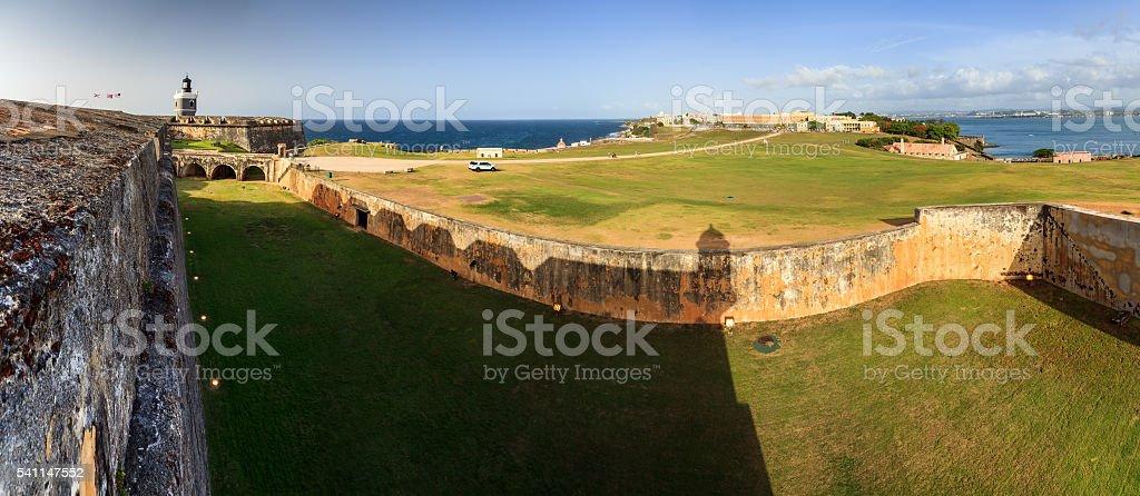 Shadow panorama Del Morro stock photo