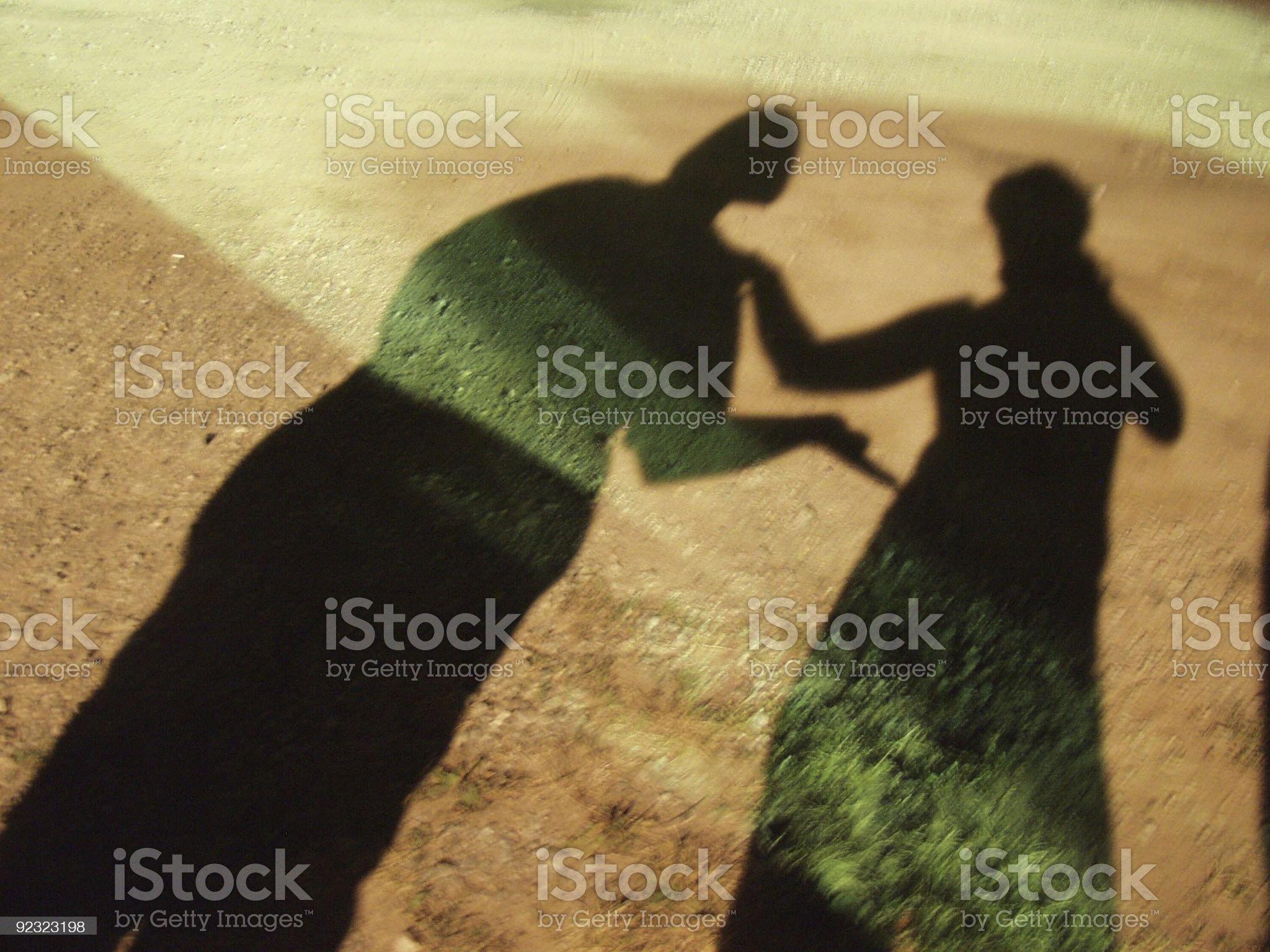 shadow play royalty-free stock photo