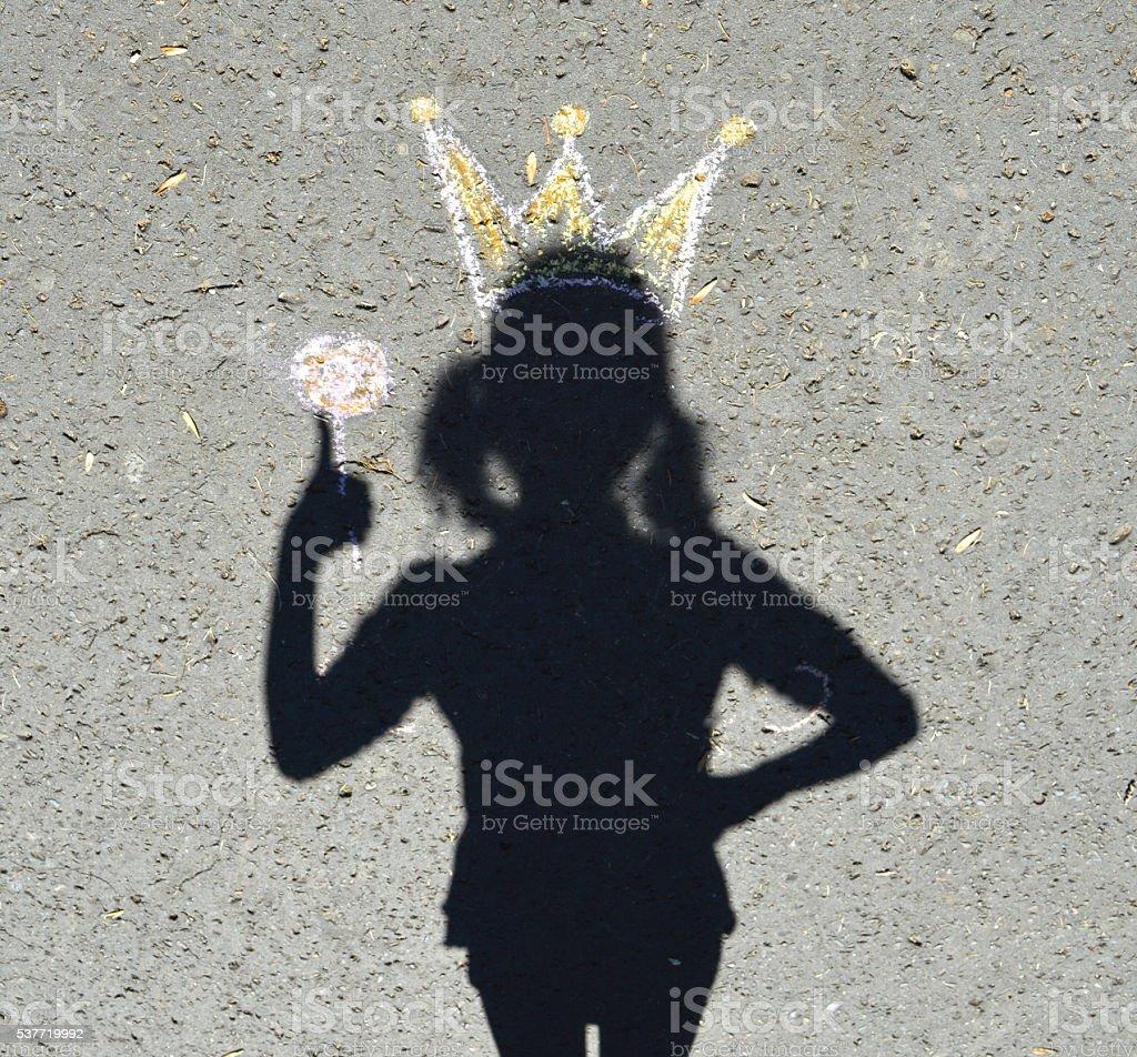 Shadow princess. stock photo