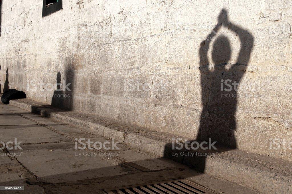Shadow Prostration stock photo