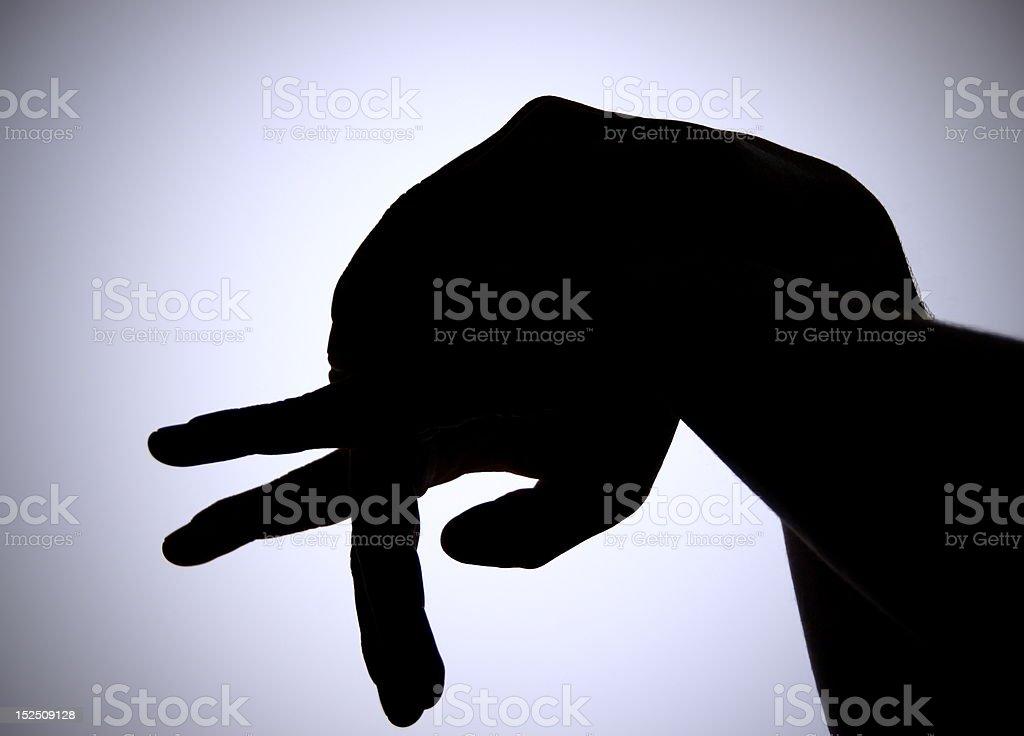 Shadow Puppet Elephant stock photo