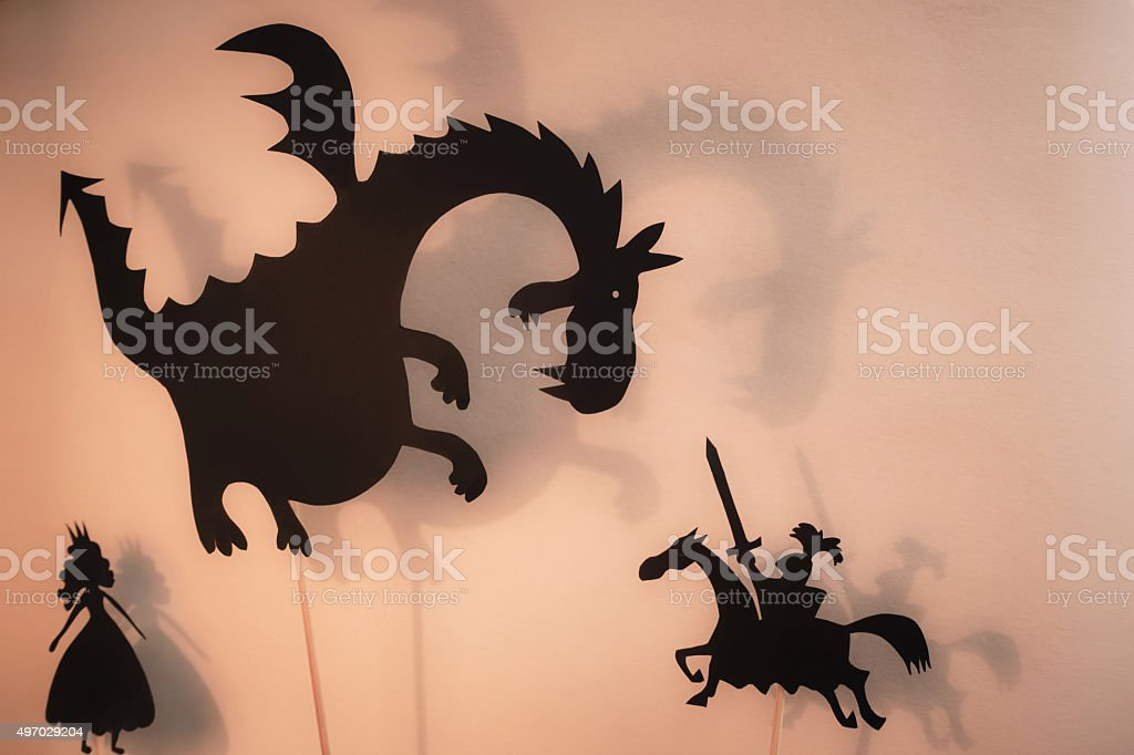 Shadow Puppets Show stock photo