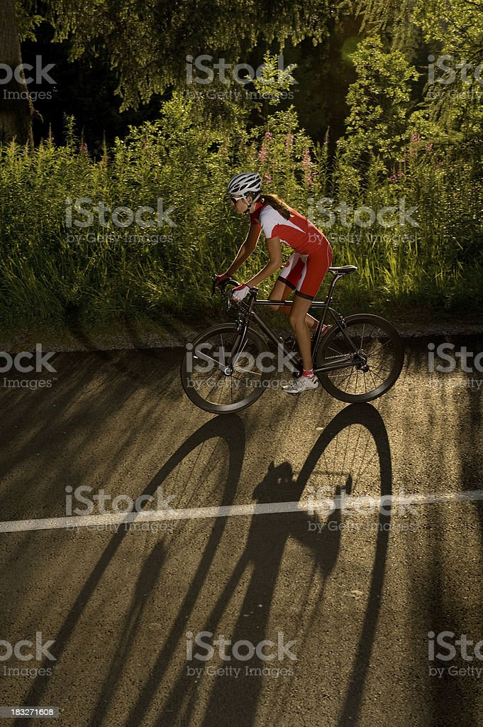 shadow racing in action royalty-free stock photo