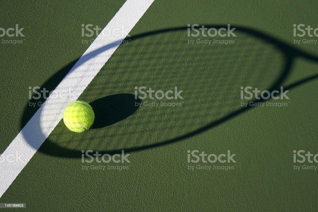 Shadow racket royalty-free stock photo