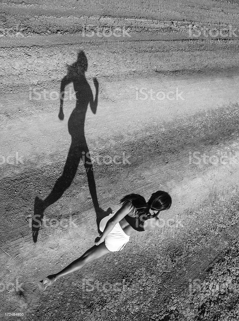 Shadow Runner royalty-free stock photo