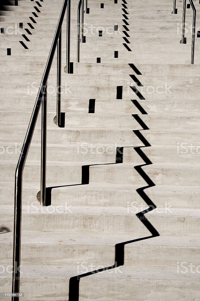 Shadow Stairs royalty-free stock photo