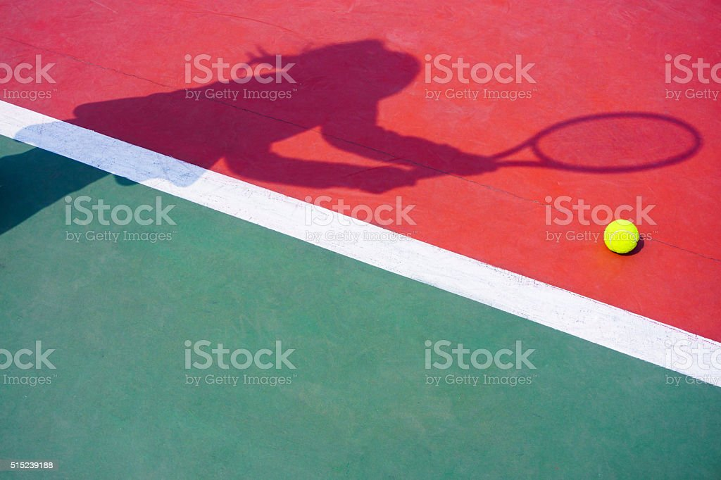 shadow , tennis background stock photo