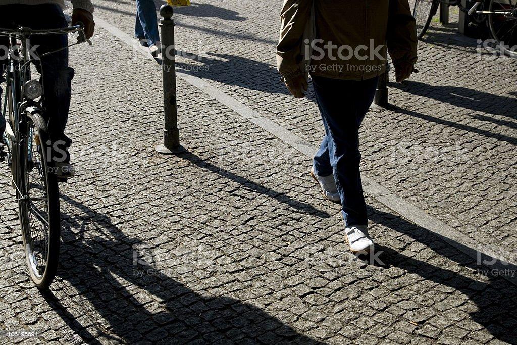 Shadow walker royalty-free stock photo