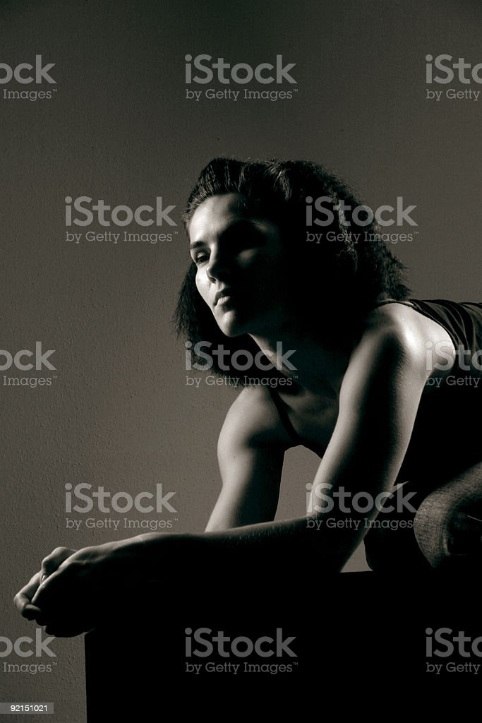 Shadowed portrait 57 royalty-free stock photo