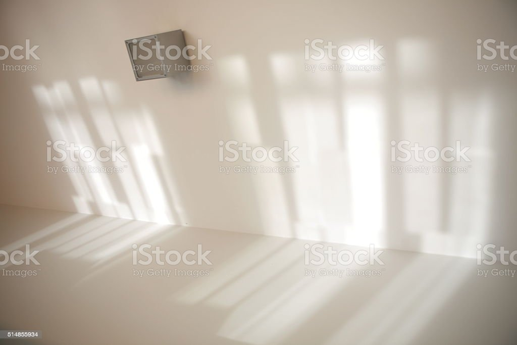 Shadowed room stock photo