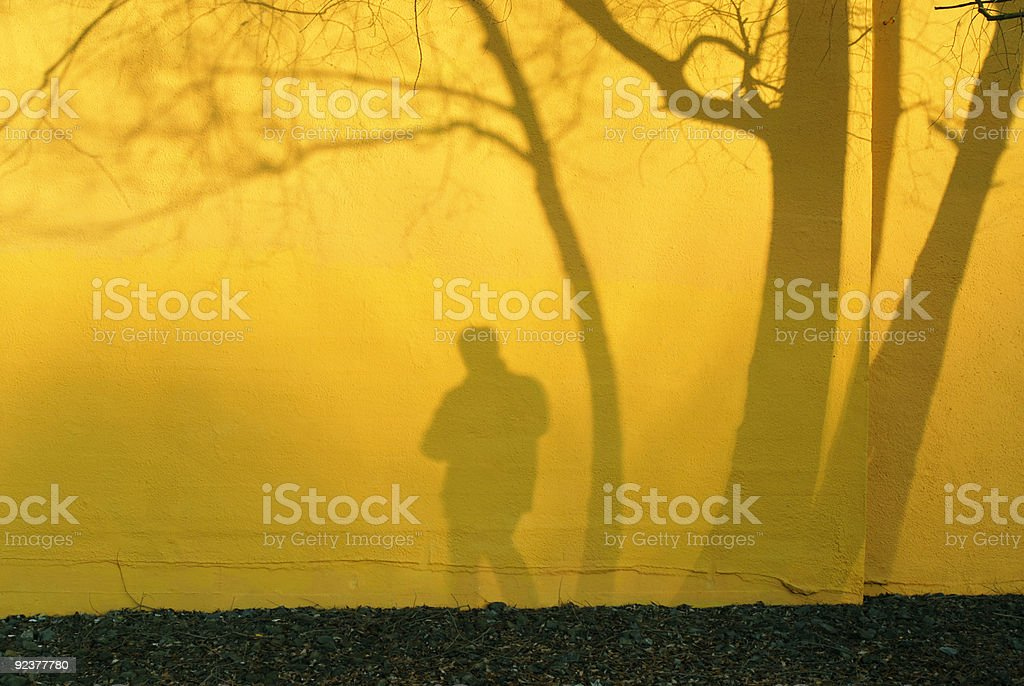 shadowman royalty-free stock photo