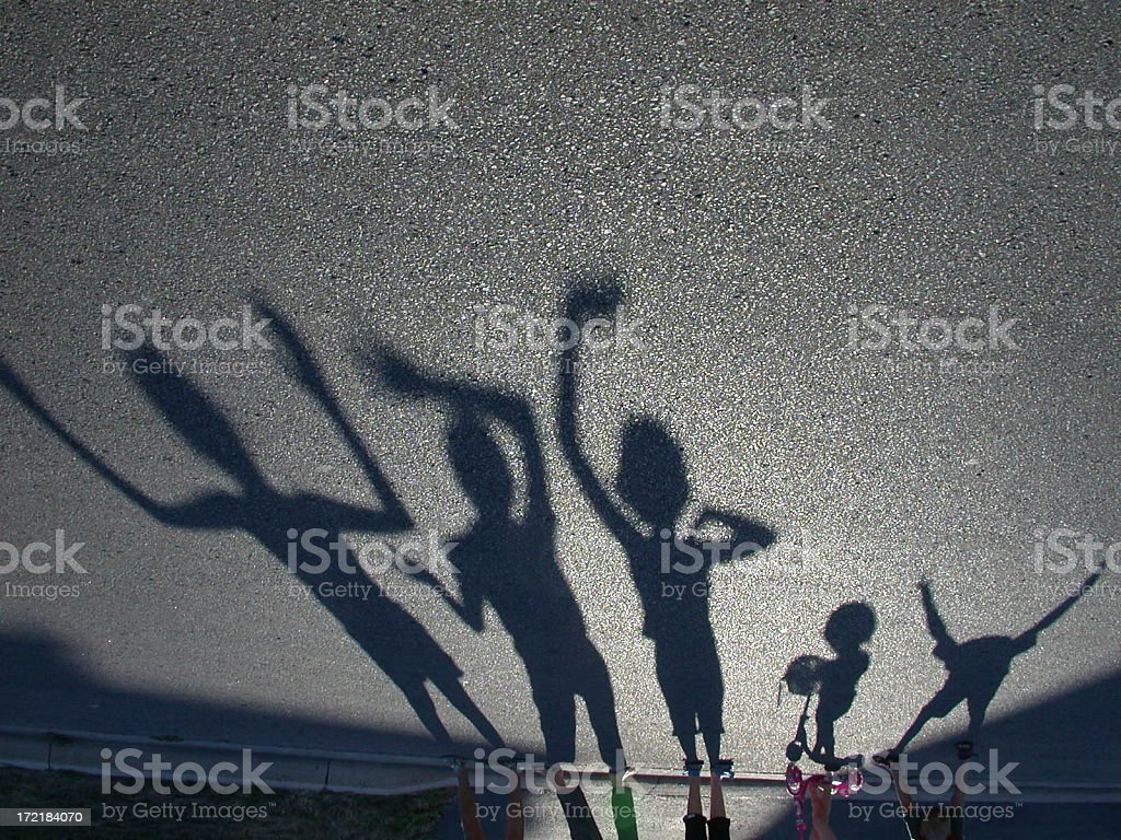 Shadowplay royalty-free stock photo