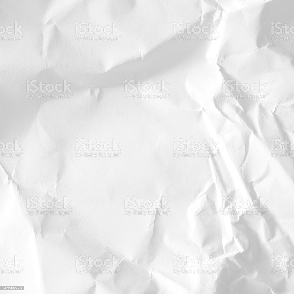 Shadows and texture from crumpled paper creating background stock photo