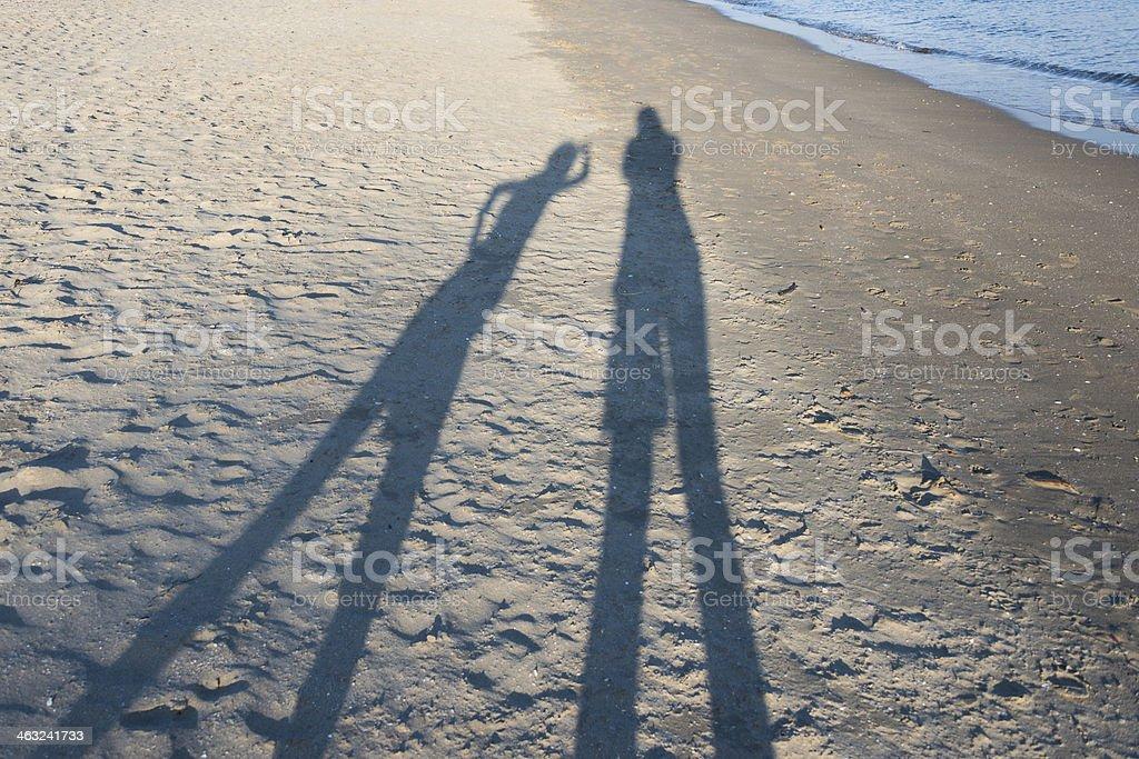 Sombras na areia foto royalty-free