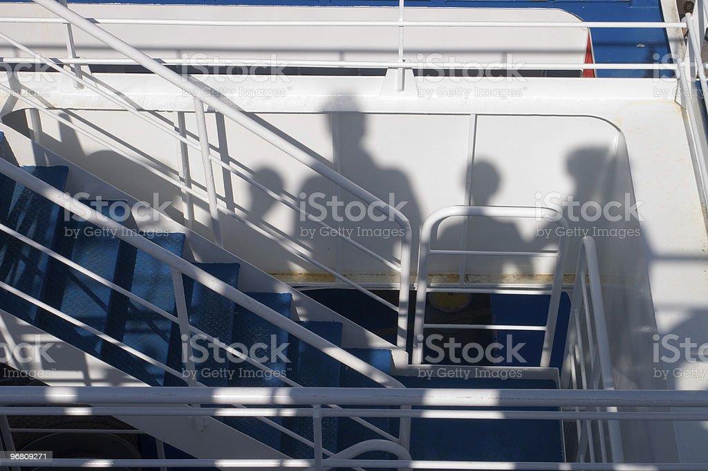 Shadows of a family royalty-free stock photo