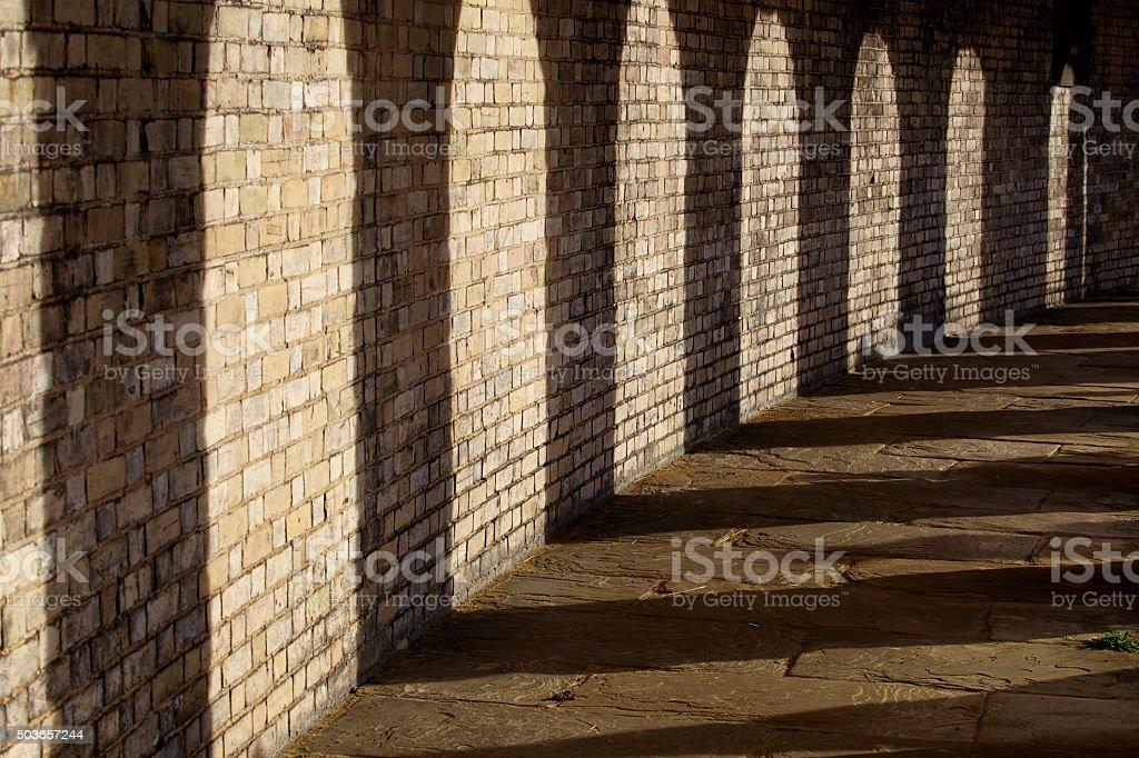 Shadows Of Brompton Cemetery stock photo