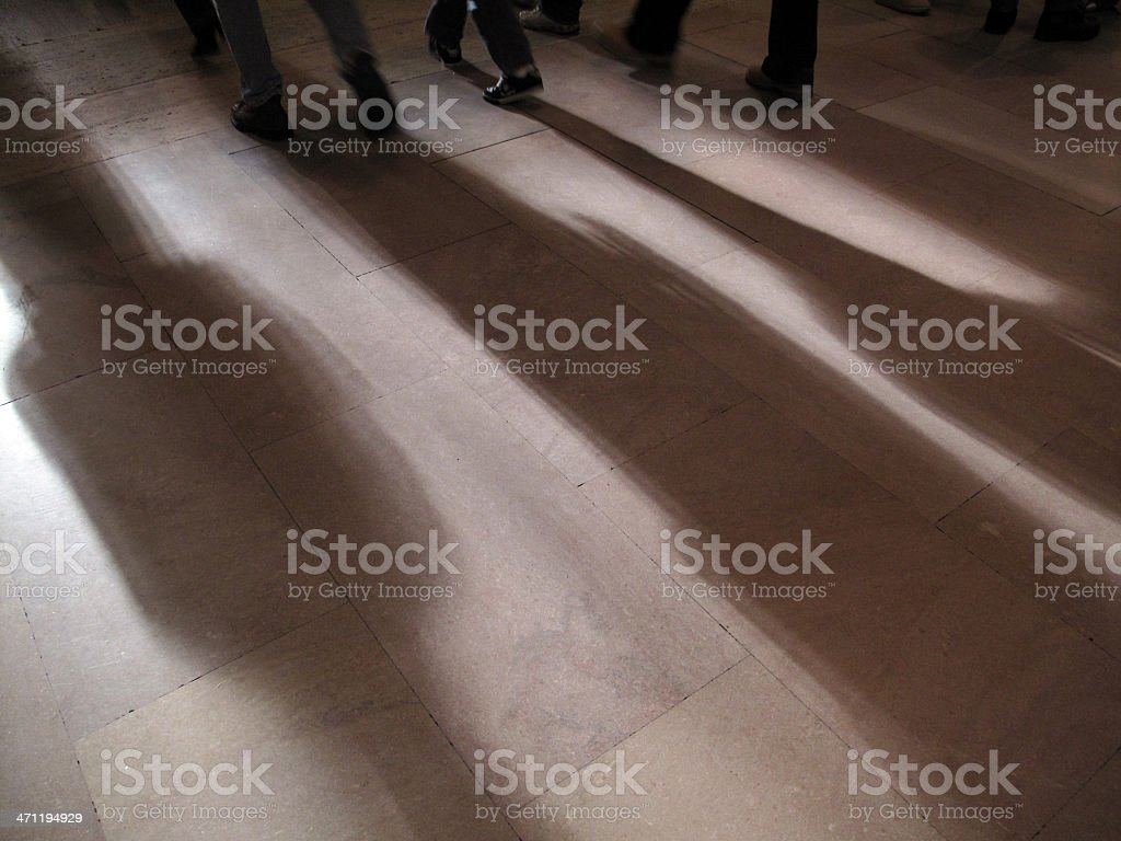 Shadows of Commuters At Grand Central Station royalty-free stock photo