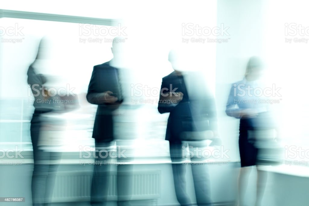 Shadows of managers royalty-free stock photo