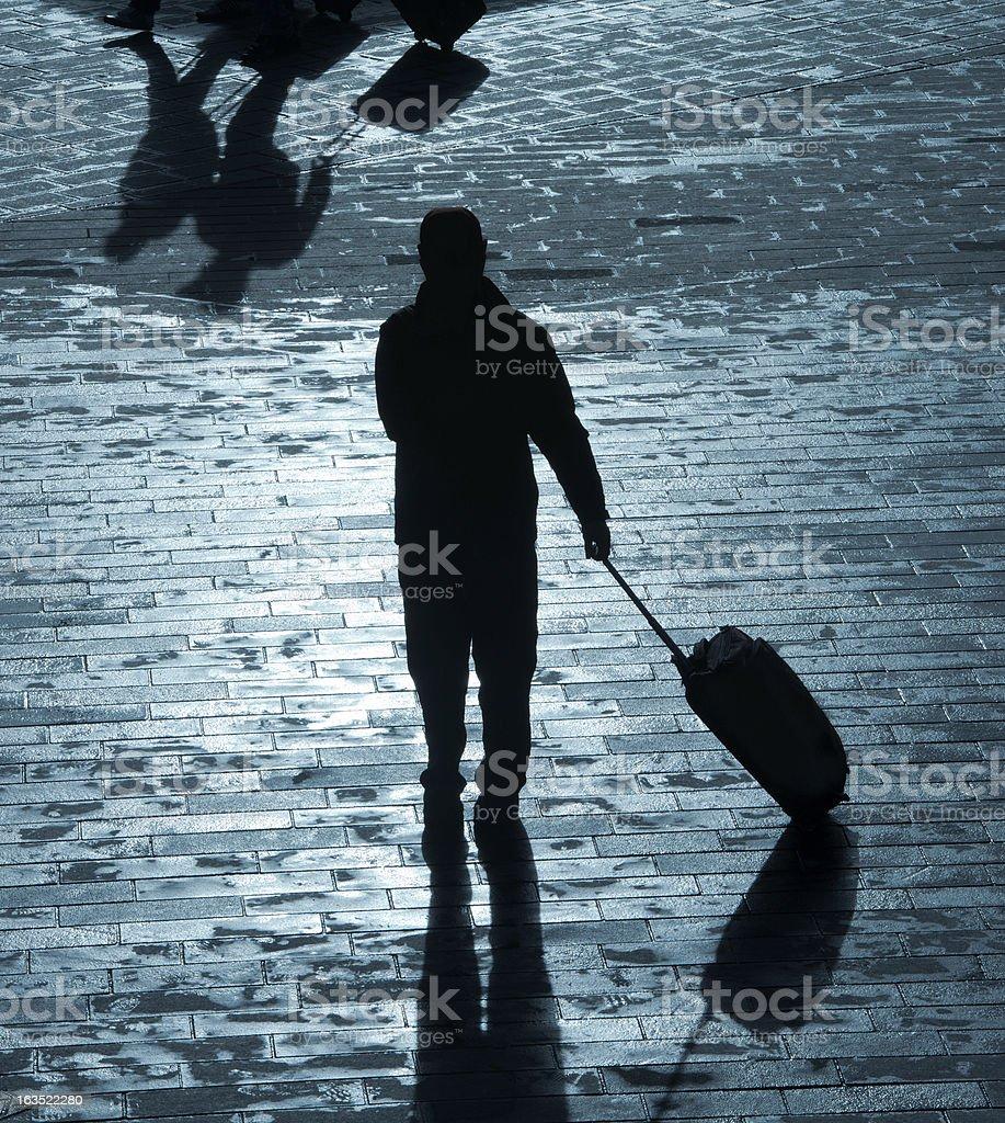 shadows of men royalty-free stock photo