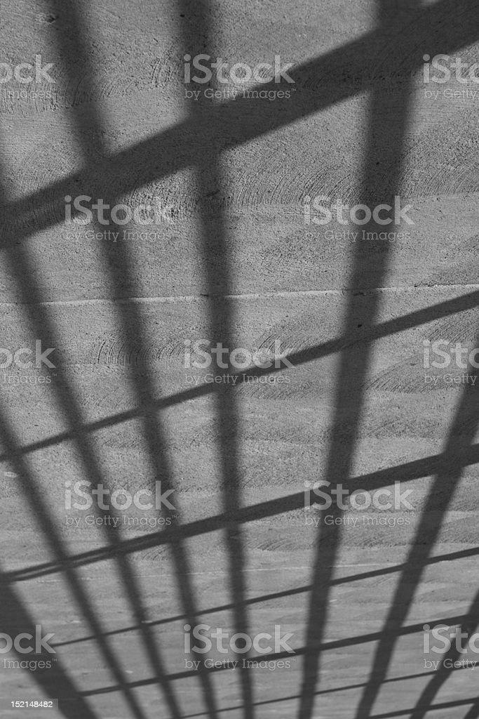 Shadows on concrete stock photo