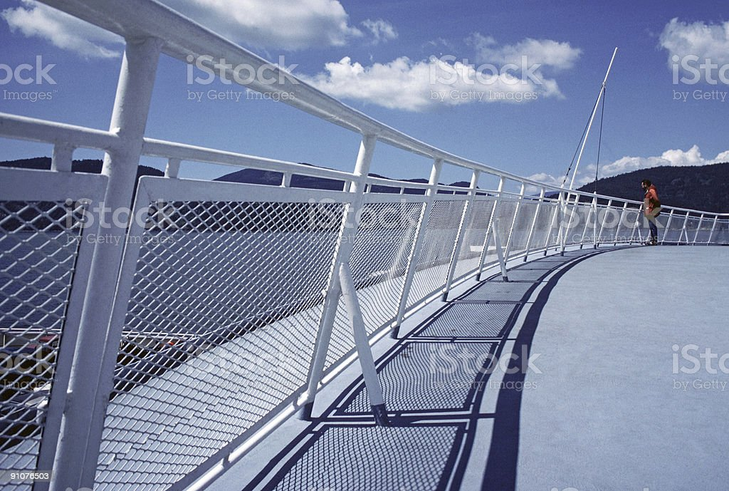 Shadows on the Deck royalty-free stock photo