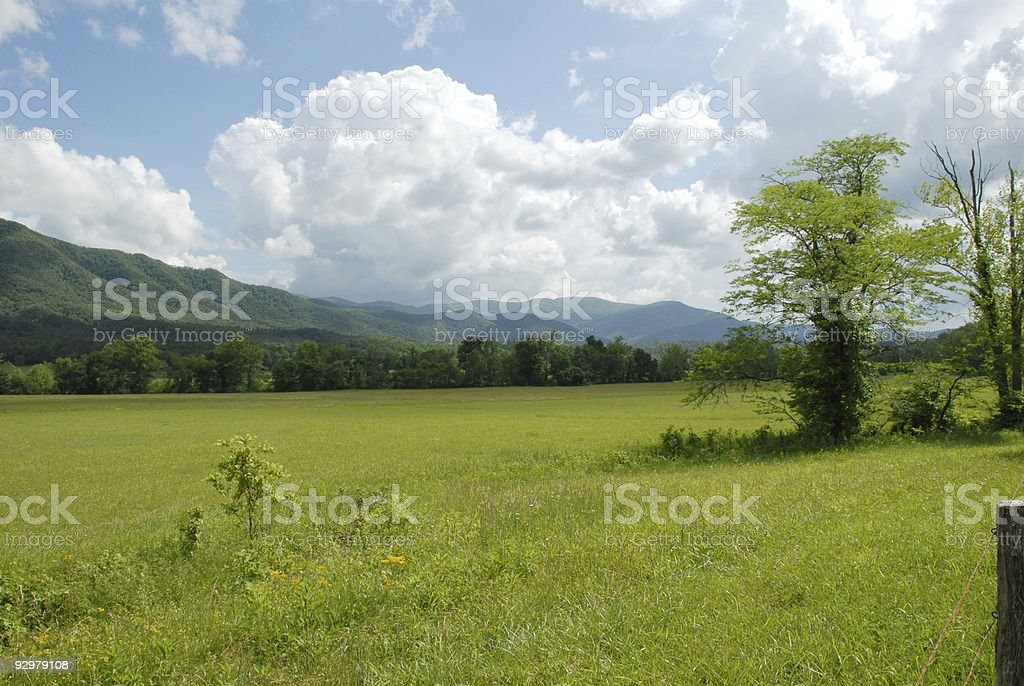 Shadows on the distant mountains royalty-free stock photo