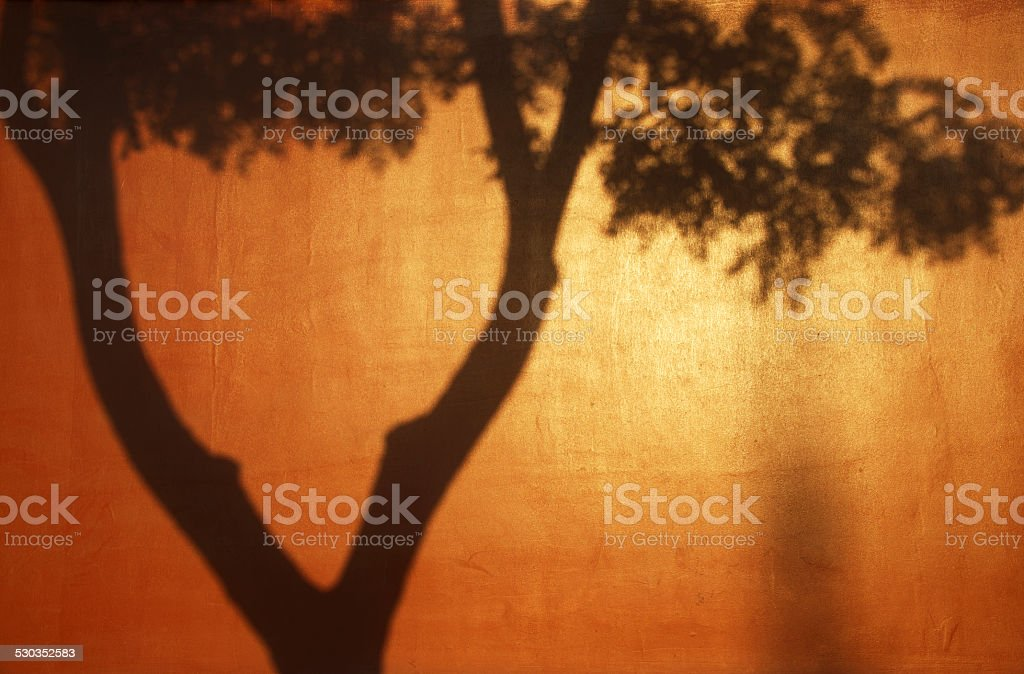 Shadows on the Red Forbidden City Wall, Beijing stock photo